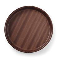 "Servier-Tablett ""Woodform"" Mahagoni rund 360mm, hoch, rutschfest"