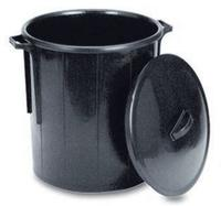 Abfalleimer schwarz Rundbehälter Gastro 50lt