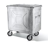 Abfallcontainer Stahl feuerverzinkt, Inhalt 800l