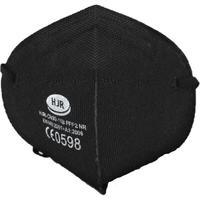 Gesichtsmaske Schutzklasse FFP2, schwarz mit Gummibändern