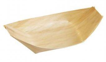 Holz-Schiffchen aus Pinienholz, 14x8x2.5cm